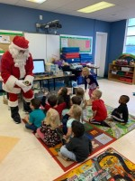 Santa Visiting Pre-K